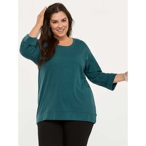 Knit Top with Faux-Zip at Back - d/C JEANS